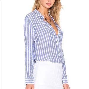 Rails Charli button down Linen Blend blouse M
